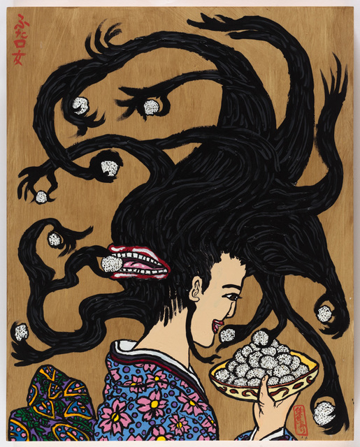 , 'The Maiden with Two Mouths and Rice Balls,' 2017, Creativity Explored
