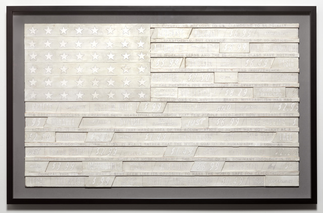 , 'White Flag for Franklin Rosemont (large),' 2019, Jonathan Ferrara Gallery