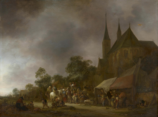 , 'A Village Fair with a Church behind,' 1643, Royal Collection Trust