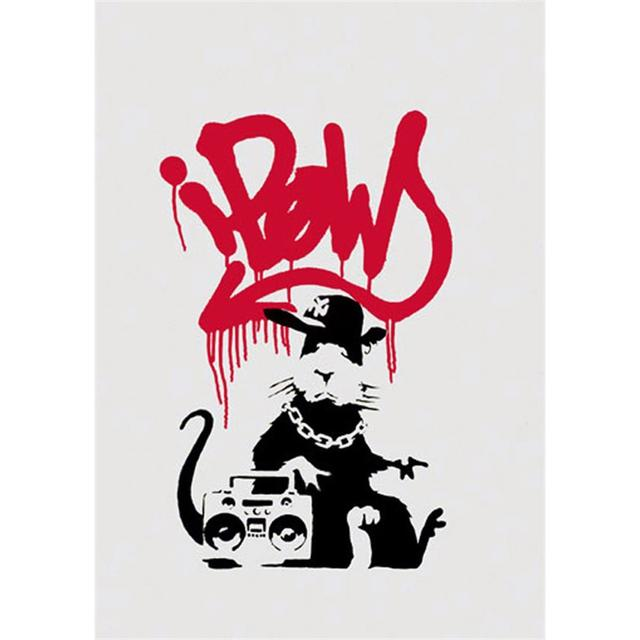 Banksy, 'Gangsta Rat', 2004, Print, Screenprint, Maddox Gallery