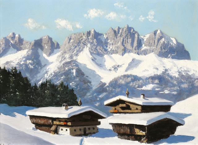 , 'A Farmer's House at the Wilde Kaiser in Tyrol,' ca. 1935, Galerie Kovacek & Zetter
