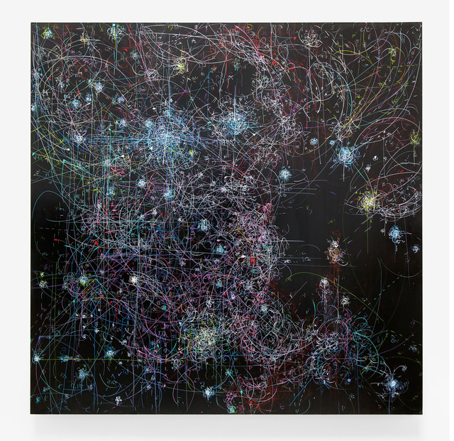 , 'blow up 256 - the long goodbye (help, help) - subatomic decay patterns, R108 and massive young stars,' 2015, Von Lintel Gallery