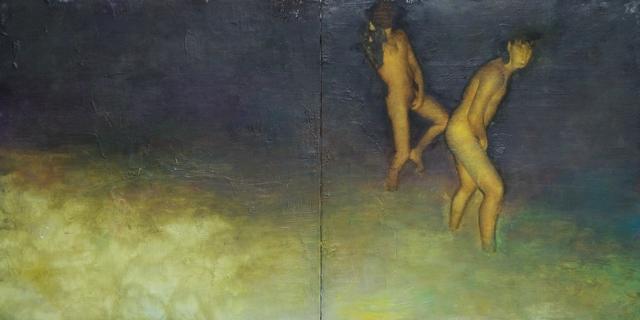 William Reinsch, 'Yellow snow marauders dyptich', ca. 2017, Castlegate House Gallery