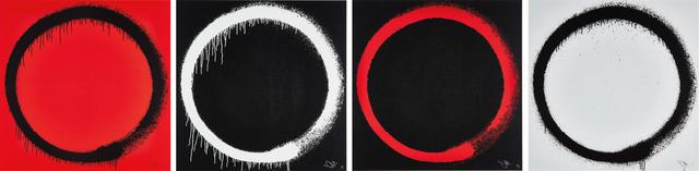 Takashi Murakami, 'Ensō: Earthly Desires; Ensō: The Heart; Ensō: Intellection; and Ensō: Tranquility', 2015, Phillips
