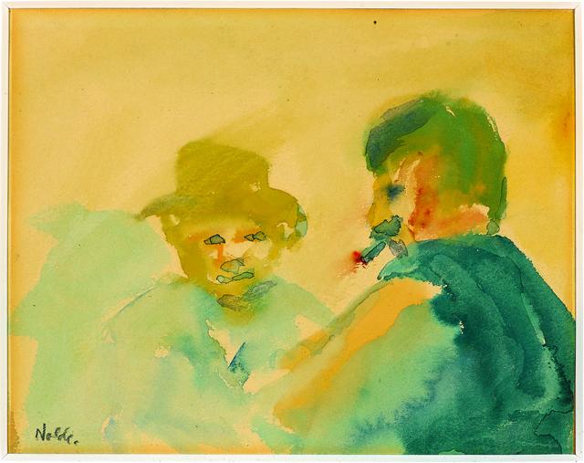 , 'Zwei Männer im Gespräch (Two Men In Conversation),' 1908, Galerie Herold