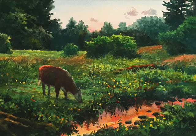 Scott Prior, 'Cows Grazing', 2017, William Baczek Fine Arts