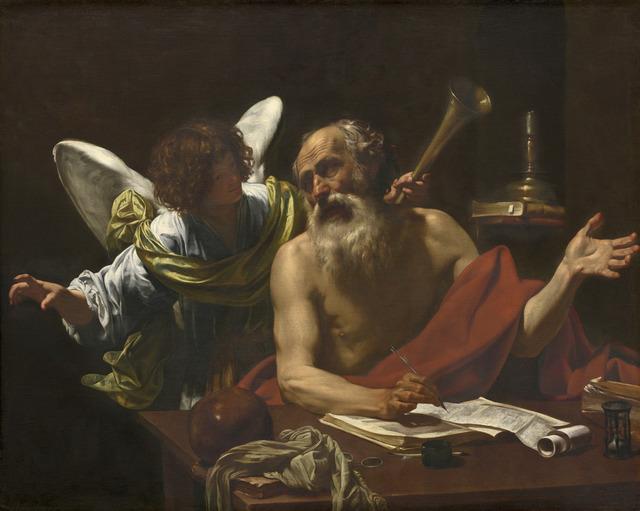 Simon Vouet, 'Saint Jerome and the Angel', ca. 1622/1625, National Gallery of Art, Washington, D.C.