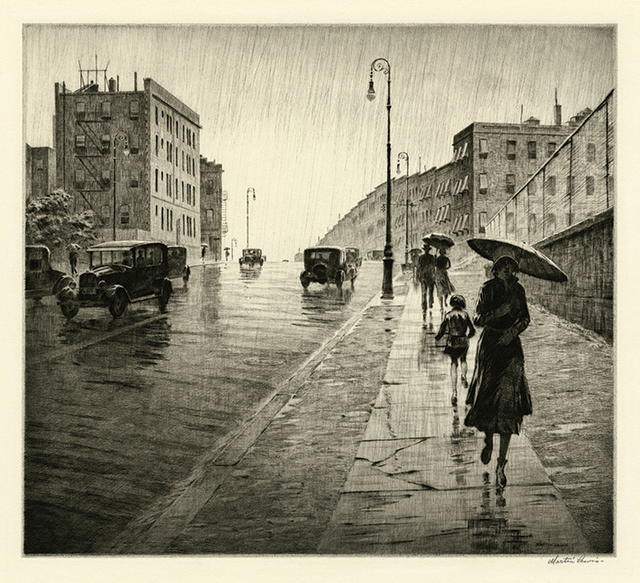 , 'Rainy Day, Queens,' 1931, Harris Schrank Fine Prints