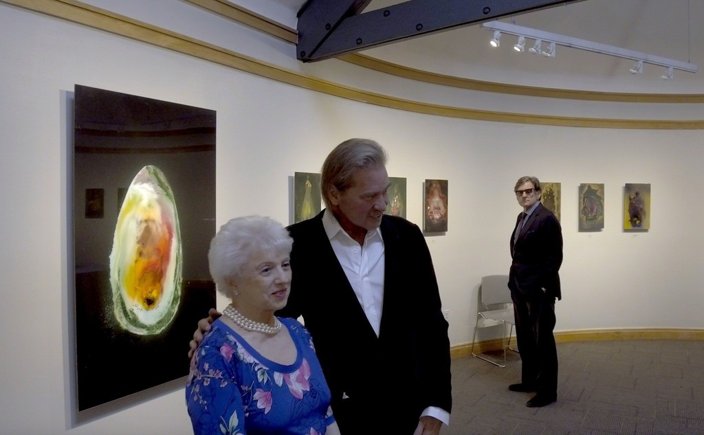 Co- Curator Audrey Leeds with Val Kilmer, Peter Brant