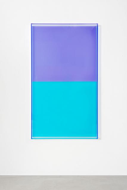 , 'colormirror türkis violet,' 2018, Galerie Judith Andreae