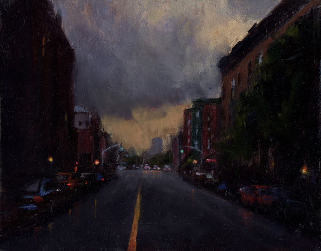 Tony D'Amico, 'Storm Cloud Over Brooklyn', 2016, Painting, Oil, The Galleries at Salmagundi