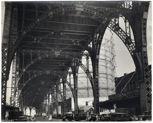 , 'Under Riverside Drive Viaduct.  (145th Street and 12th Avenue.),' 1937, The Old Print Shop, Inc.