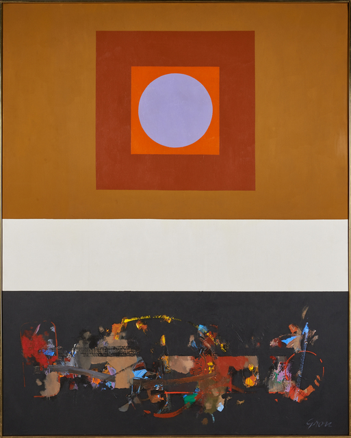 "Sidney Gross, '""Bardo With Black Vertical""', Painting, Oil on canvas, Rago/Wright"