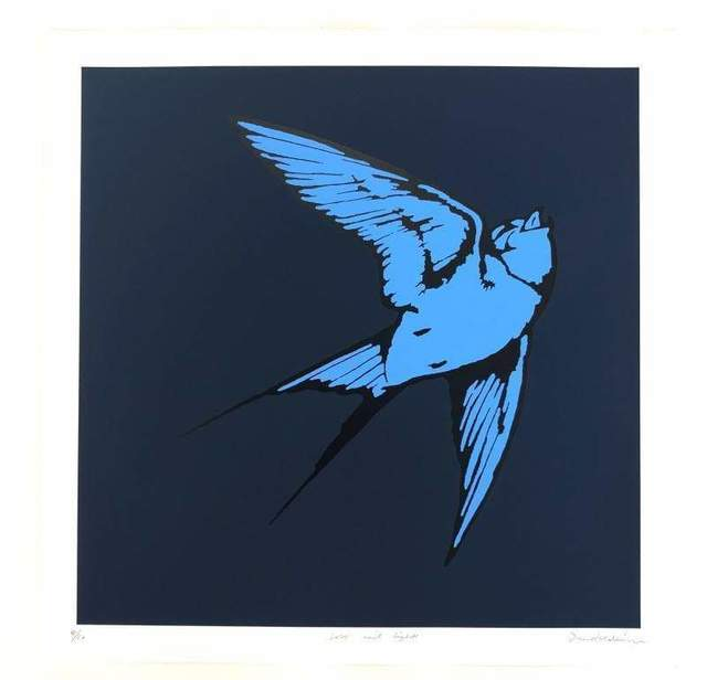 Dan Baldwin, 'Love and Light - Midnight Blue and Pacific Blue', 2020, Print, Silkscreen in colors on paper, Enter Gallery