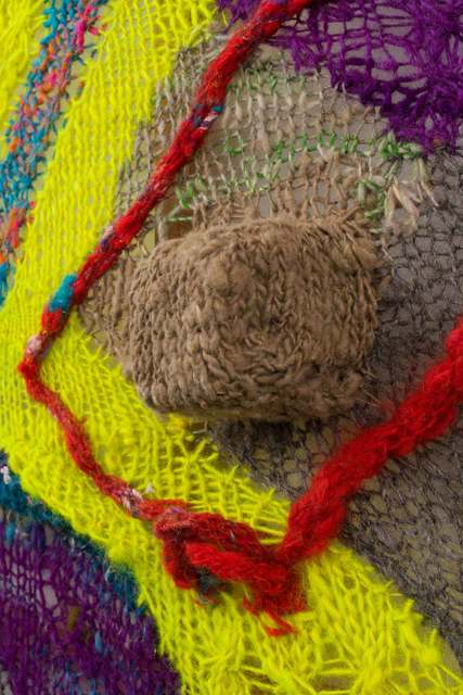 Channing Hansen, 'M: 5', 2018, Textile Arts, Hand spun, hand dyed wool; synthetic fibres; and redwood, Stephen Friedman Gallery