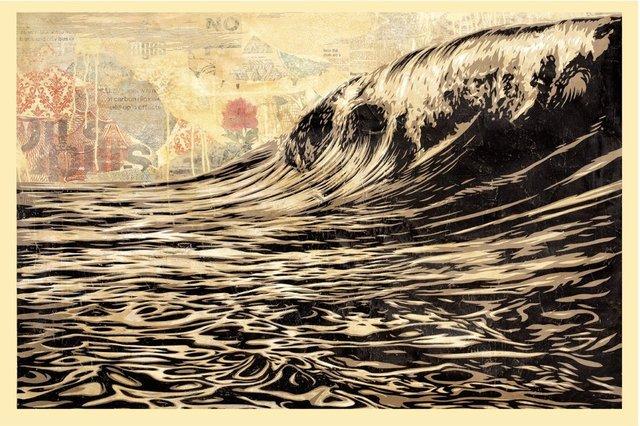 Shepard Fairey, 'Dark Wave', 2018, AYNAC Gallery