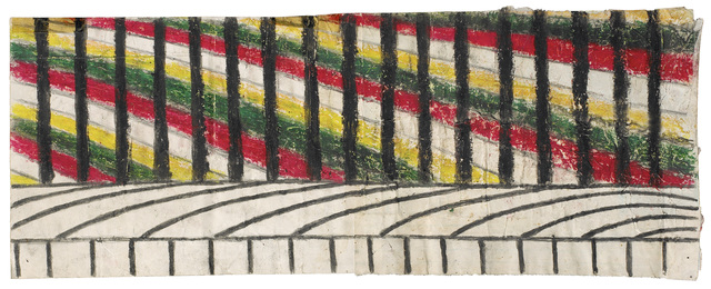 Martín Ramírez, 'Untitled (Abstraction with Yellow, Green and Red', c. 1960-63, Robert Berman Gallery