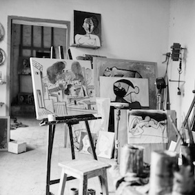 , 'View of Picasso's studio at Vallauris,' 26, Cahiers d'Art