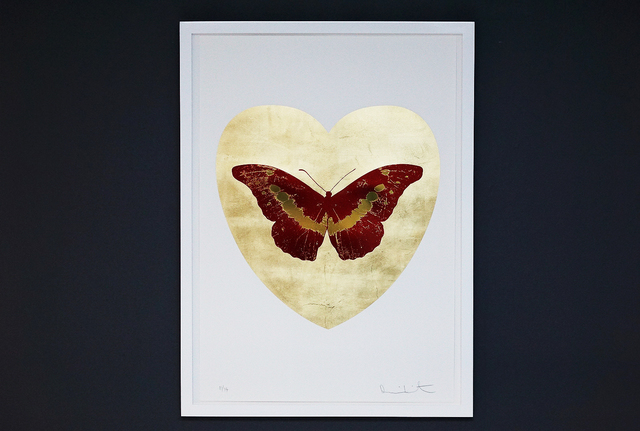 Damien Hirst, 'I Love You, Butterfly, Red/Gold', 2015, Print, Silkscreen, Gold Leaf, Foil Block, Arton Contemporary