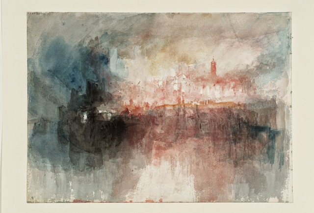 , 'A Fire at the Tower of London,' 1841, de Young Museum