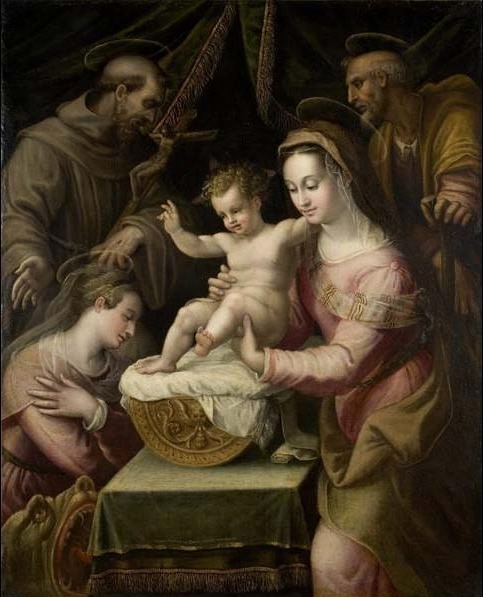 Lavinia Fontana, 'Holy Family with Saints Margaret and Francis', 1578, Davis Museum