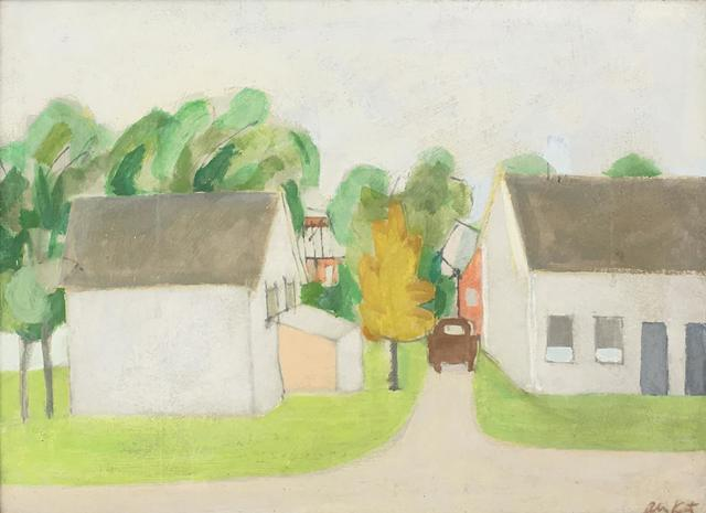 Alex Katz, 'Buildings with Trees Beyond', ca. 1952, Caldwell Gallery Hudson