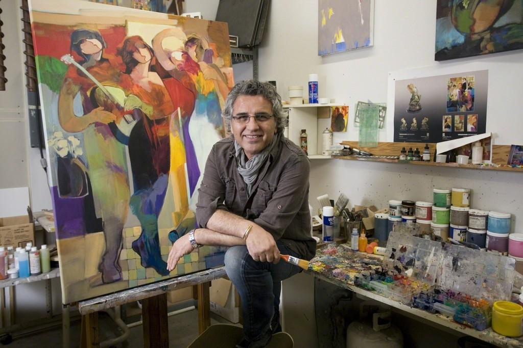 Hessam in his studio
