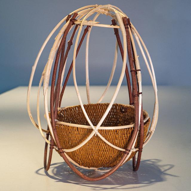 Marion Hildebrandt, 'Forest Remembered', 2002, Design/Decorative Art, Paper twine, waxed linen twine, CA hazelnut & spice bush branches, wood rounds, browngrotta arts
