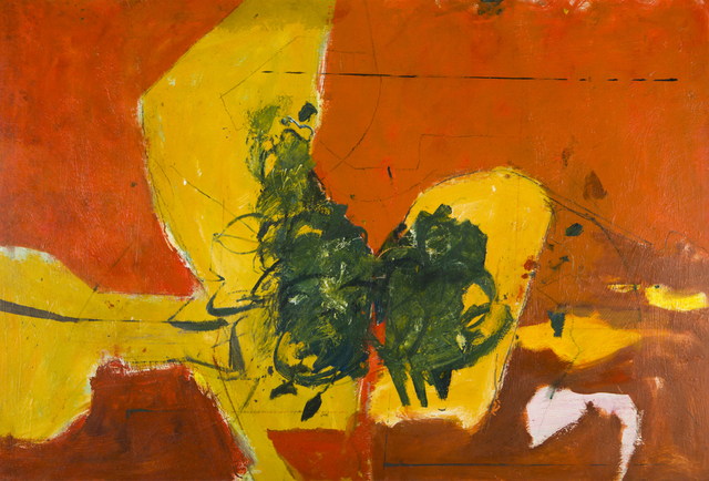 , '[Abstract in Orange, Yellow and Green],' ca. 1958, Childs Gallery