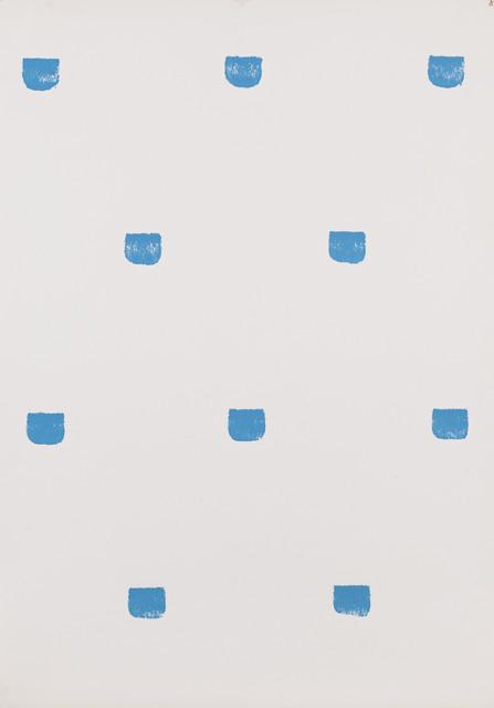 , 'Empreintes de pinceau n°50 répétées à intervalles réguliers de 30 cm.,' 1979, Musée d'Art Moderne de la Ville de Paris