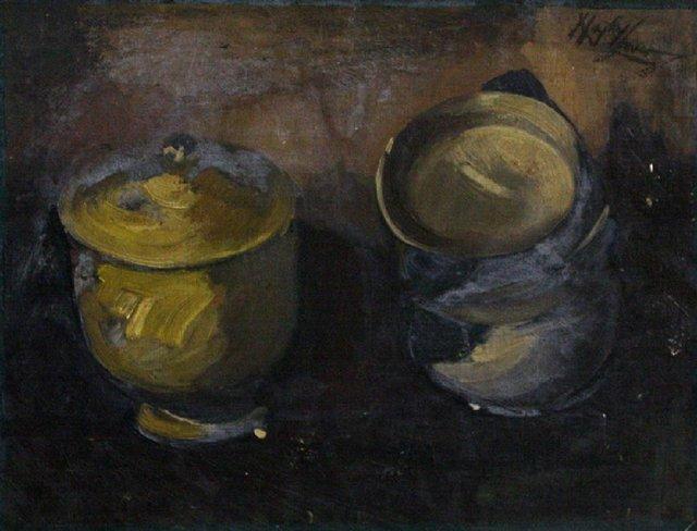 , 'Still Life of Two Pots,' , The Loft Fine Art