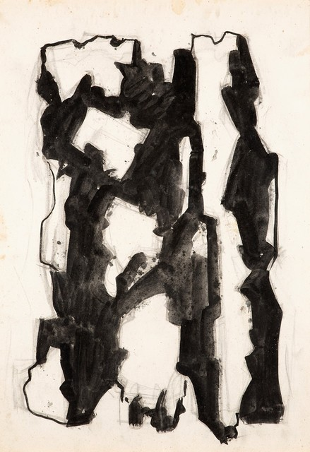 Leoncillo Leonardi, 'Incontro d'inverno (uomini tra luce e ombra)', 1957-64, Finarte