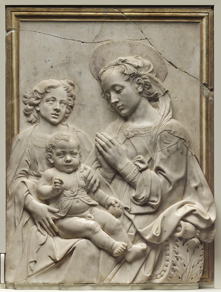 Virgin Adoring the Child Andrea del Verrocchio ca. 1475-85 Marble
