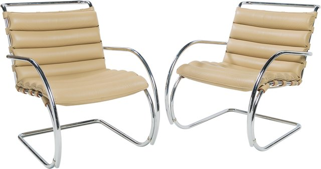 Groovy Ludwig Mies Van Der Rohe Pair Of Mr Lounge Chairs Artsy Squirreltailoven Fun Painted Chair Ideas Images Squirreltailovenorg