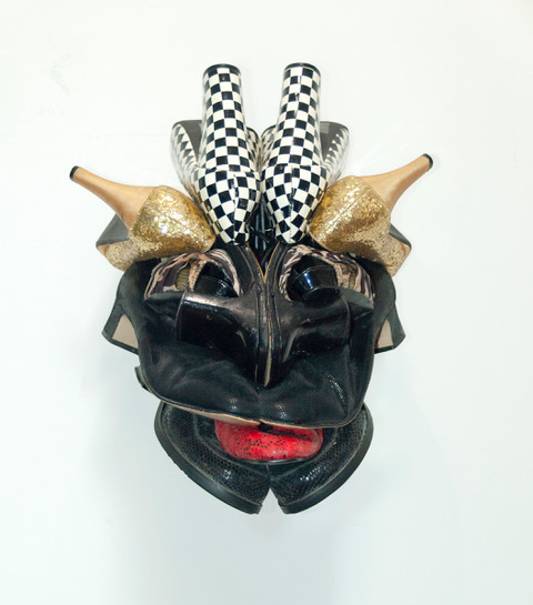 Willie Cole, 'Big Chief with a Bolden Crown', 2017, Sculpture, High heel shoes and wire, 50 Golborne