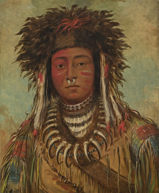 George Catlin, 'Boy Chief - Ojibbeway', 1843, Painting, Oil on canvas, National Gallery of Art, Washington, D.C.