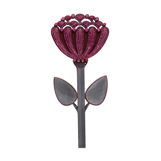 , 'Ruby Chrysanthemum Pin,' 2012, Jason Jacques Gallery