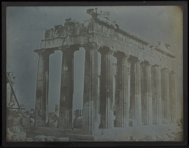 , 'Facade and North Colonnade of the Parthenon on the Acropolis, Athens,' 1842, J. Paul Getty Museum