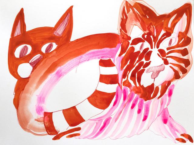 , 'Double Orange Tiger~,' 2017, Helikon Gallery & Studios