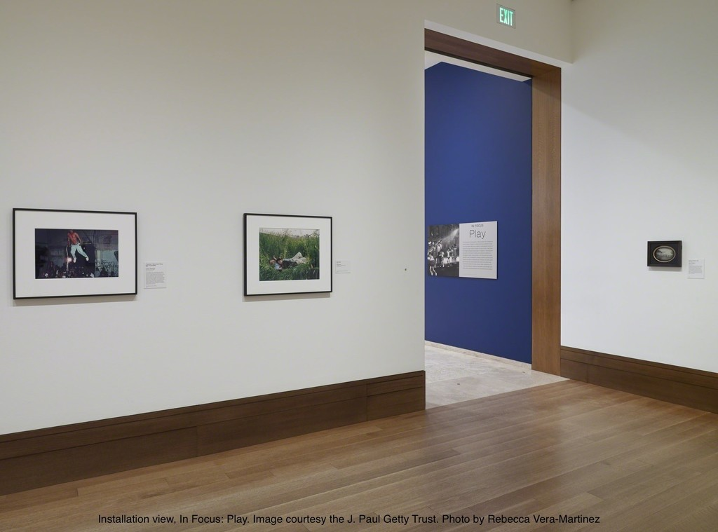 Installation view, In Focus: Play. Courtesy the J. Paul Getty Trust. Photo by Rebecca Vera-Martinez.