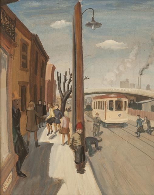 , 'Street Scene, St. Henri,' 1944, Canadian Fine Arts