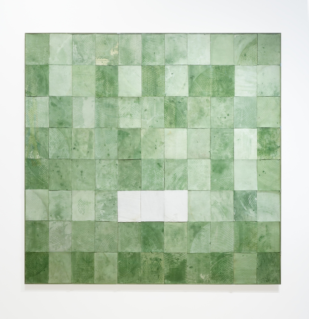 Robert Courtright, 'Collage Construction (Untitled - Green)', 1988, Pavel Zoubok Fine Art