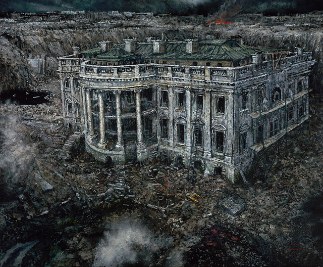 , 'A Natural History of Disaster II: The Excavation of the White House, 2152 A.C.,' 2019, Catharine Clark Gallery