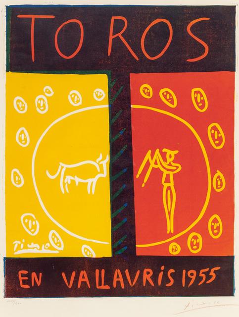 Pablo Picasso, 'Toros en Vallauris (Bulls in Vallauris)', 1955, Masterworks Fine Art