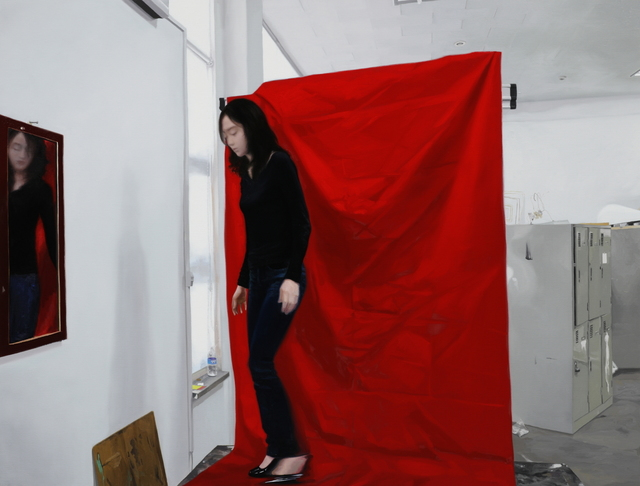 , 'A Woman in Red,' 2014, Gallery LVS