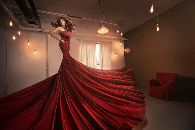 , 'Red Dress Twirl,' 2014, Abbozzo Gallery