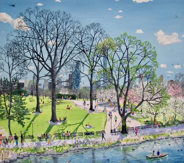 , 'Central Park Spring,' 2019, Rebecca Hossack Art Gallery
