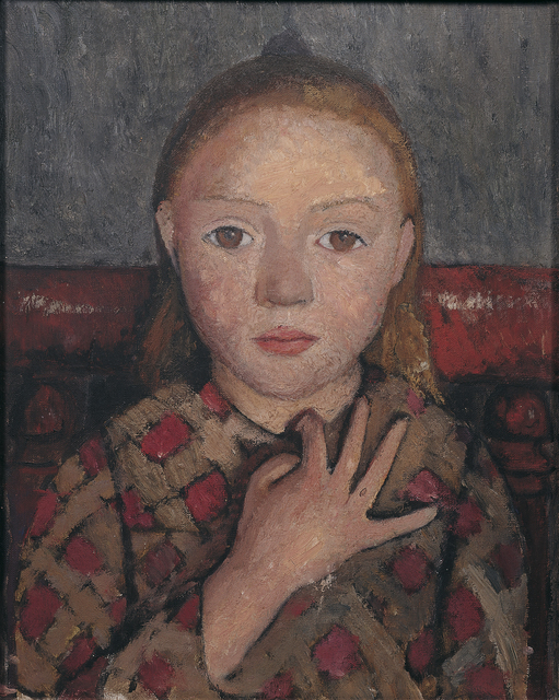 , 'Mädchenbildnis mit gespreizter Hand vor der Brust (Portrait of a Girl with a Hand Spread across Her Chest ),' c. 1905, Louisiana Museum of Modern Art