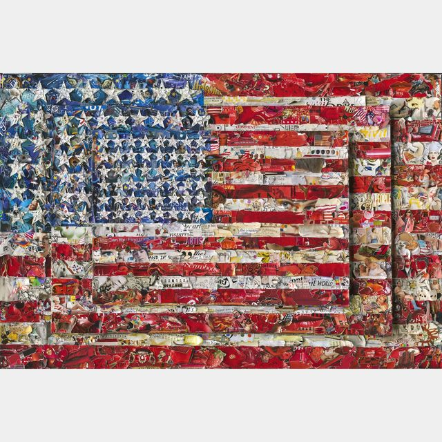, 'Three Flags, After Jasper Johns (Pictures of Magazines 2),' 2014, Vivian Horan Fine Art