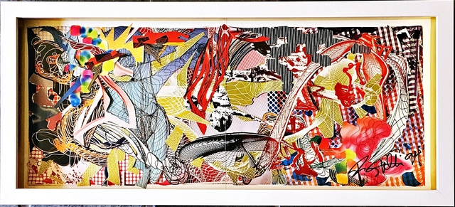 Frank Stella, 'Hand signed offset lithograph (from the collection of UACC President Cordelia Platt)', 1994, Alpha 137 Gallery